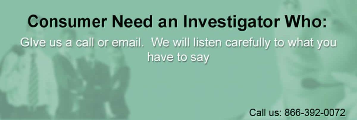 SF Bay Area private investigator services for individual consumers